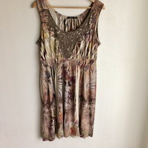 Apt 9 Brown Multicolor Sleeveless Dress Size L